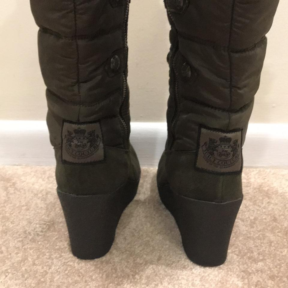 989342aa3bf5 Juicy Couture Green Everest Wedge Boots Booties Size US 10 Regular ...