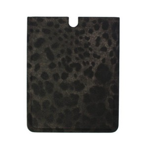 Dolce&Gabbana D10014 Leopard Leather Ipad Tablet Ebook Cover Bag (25 cm x 20 cm)