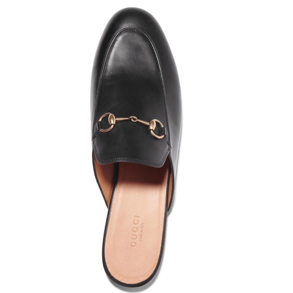 b03fedb0443 Gucci Black Horsebit Princetown Leather Mule Slippers Flats. Size  EU 41 ...