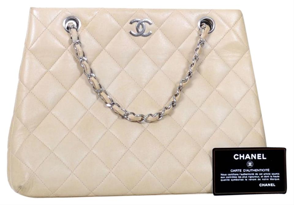 1255ca2c201c Chanel Quilted Cc Medium Purse Ivory Leather Shoulder Bag - Tradesy