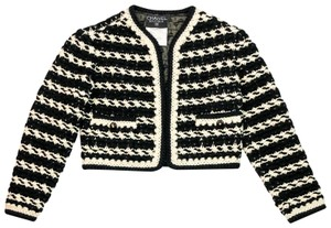 Chanel Tweed Boucle Lesage Fantasy Vintage BLACK IVORY Blazer