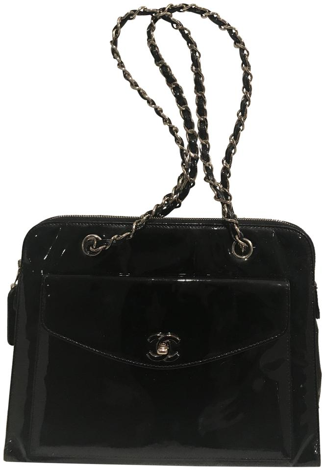ebfe3988e86f6 Chanel Black Patent Leather Shoulder Bag - Tradesy