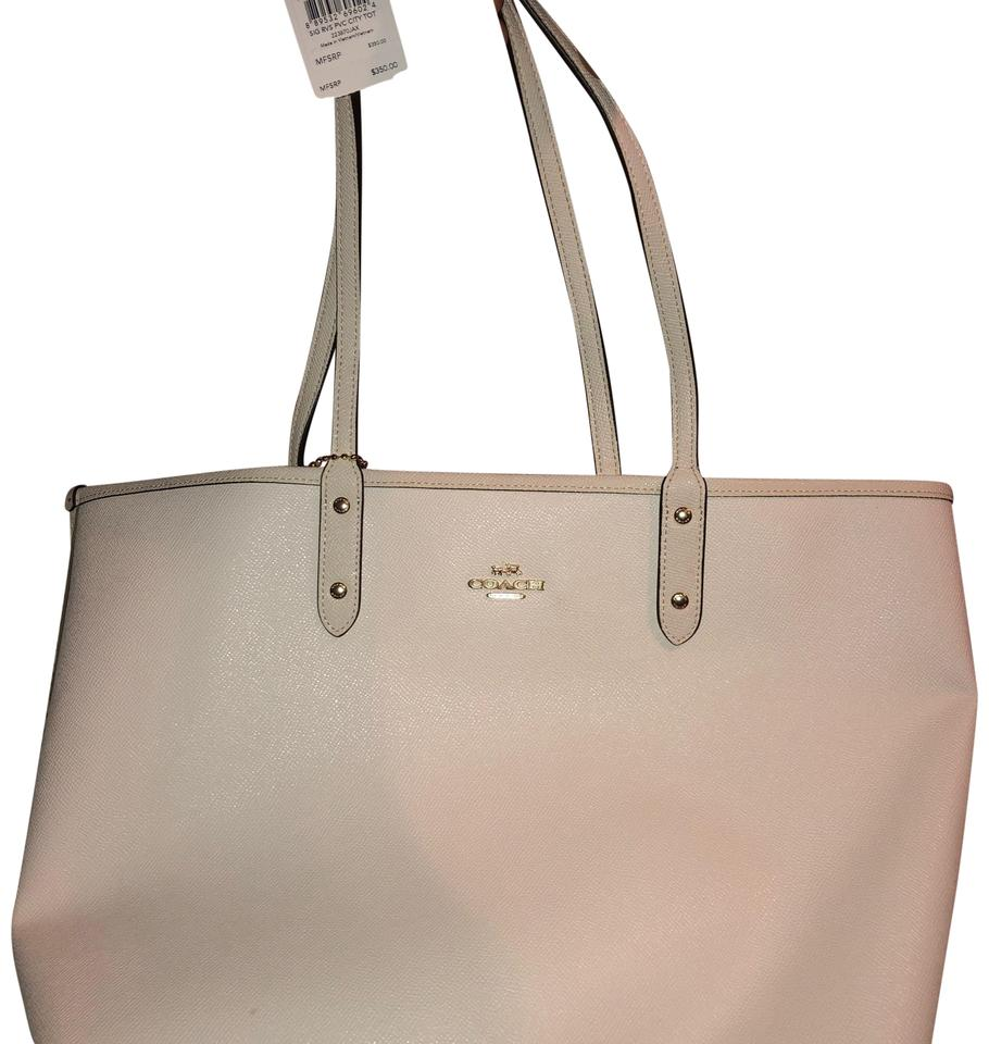 "Coach White(Reversible) Tan ""c"" On The Inside. Comes with Dust Bag ... e0403a8ced"