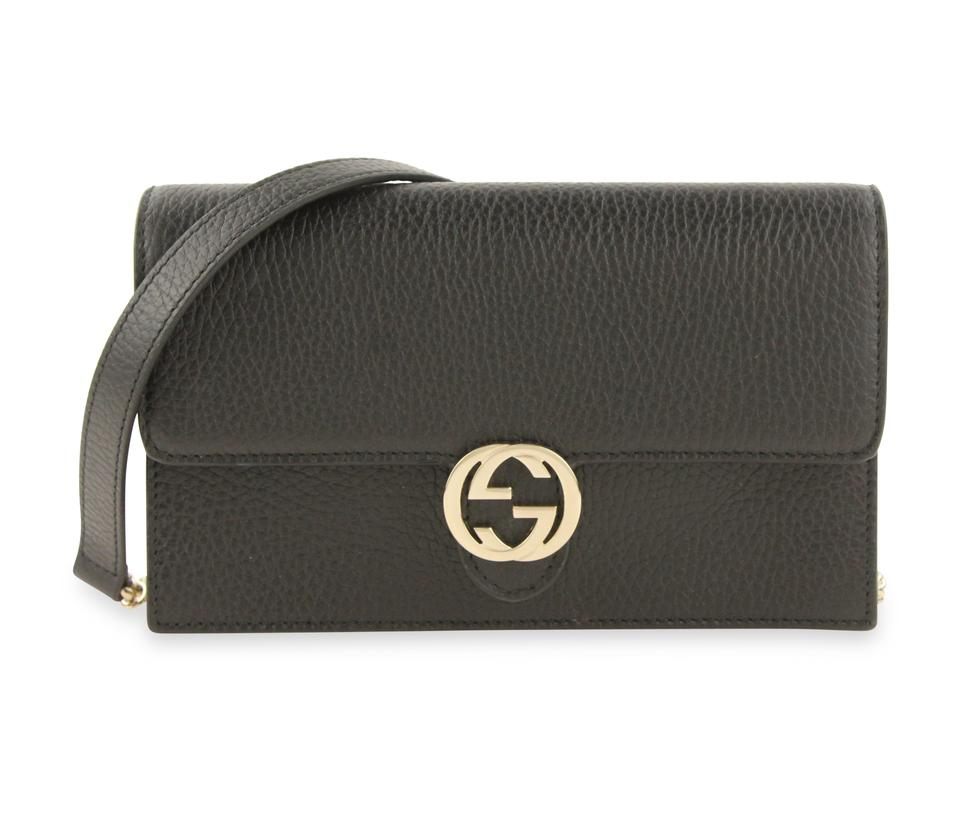 7a6911d0158 Gucci Chain Wallet Icon Black Leather Cross Body Bag - Tradesy