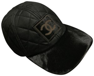 Chanel Chanel Logo Quilted pony hair cap