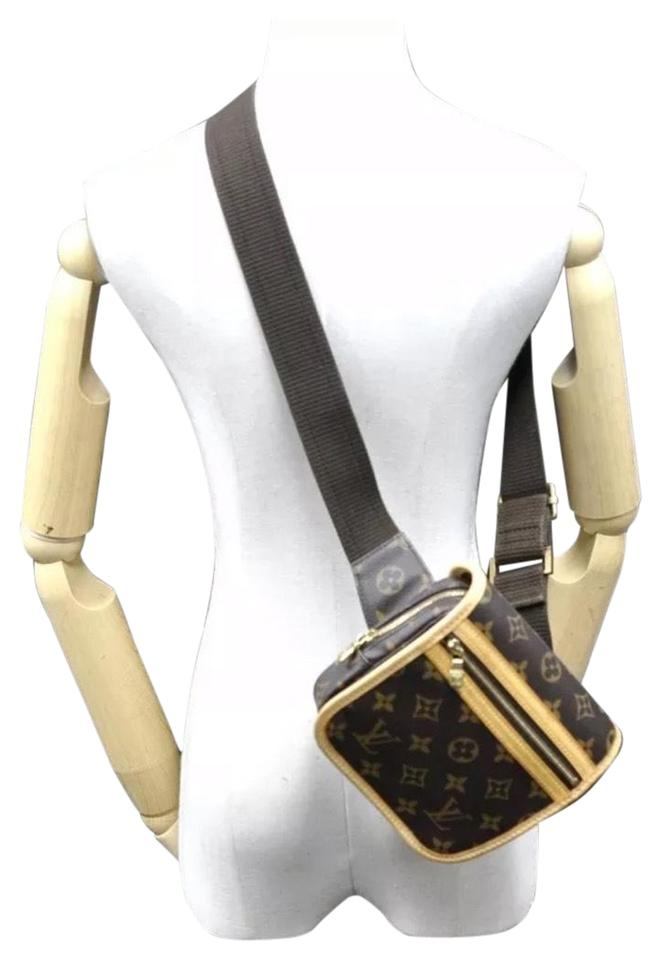 9472f2ed9763 Louis Vuitton Bosphore Monogram Bum Waist Belt Brown Canvas Cross ...