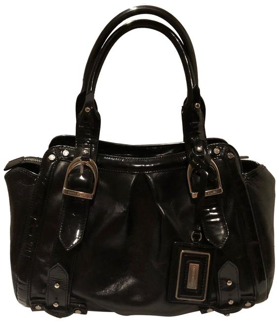 Item - Black Patent Leather and Leather Satchel