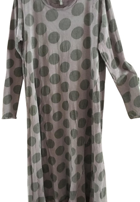 Item - Violet with Grey Polka Dots Mid-length Short Casual Dress Size OS (one size)