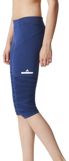 adidas By Stella McCartney Blue Women's Zebra Tights Activewear Bottoms Size 4 (S, 27) adidas By Stella McCartney Blue Women's Zebra Tights Activewear Bottoms Size 4 (S, 27) Image 1