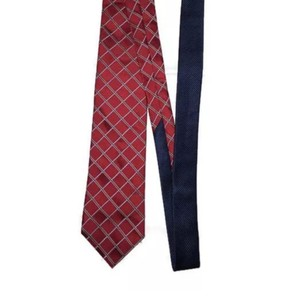 Tommy Hilfiger Red Men's Necktie Silk Plaid Made In Usa Tie/Bowtie