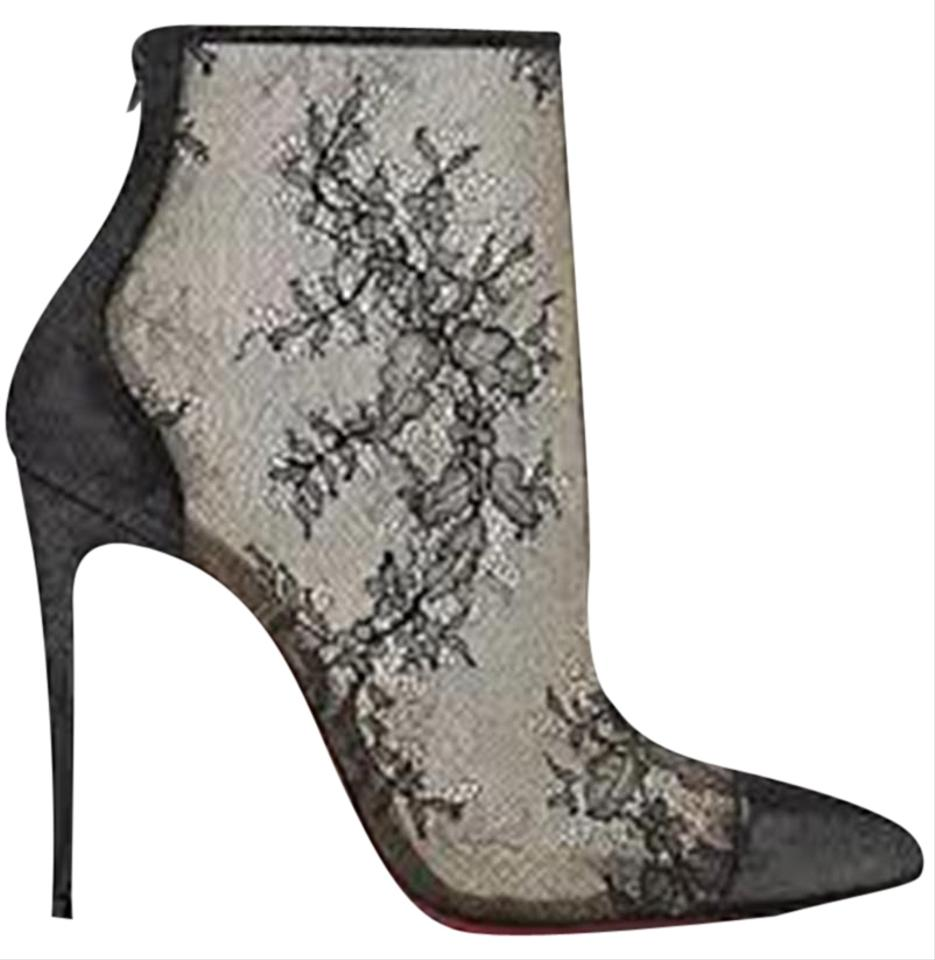 62a51008265 Christian Louboutin Black Gipsybootie Gipsy 100 Floral Lace Ankle Heels  Boots Booties Size EU 39 (Approx. US 9) Regular (M