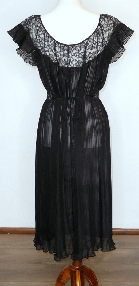 501d098f000 Barbizon Black Vintage 1950 s Nightie Mid-length Cocktail Dress Size 18  (XL
