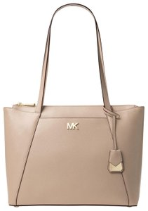 5773be02becd Michael Kors Maddie Medium Crossgrain Truffle Leather Tote - Tradesy