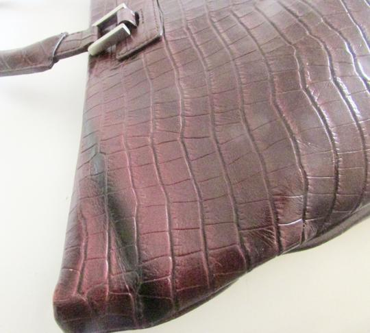 Terry Lewis Classic Luxuries Satchel in Burgundy Image 10
