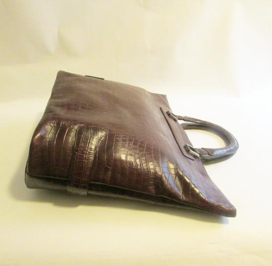Terry Lewis Classic Luxuries Satchel in Burgundy Image 4