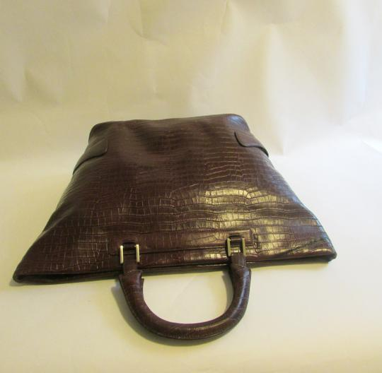 Terry Lewis Classic Luxuries Satchel in Burgundy Image 6