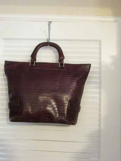 Terry Lewis Classic Luxuries Satchel in Burgundy Image 7