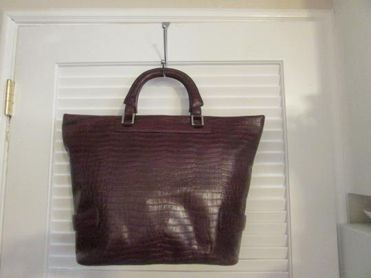 Terry Lewis Classic Luxuries Satchel in Burgundy Image 8