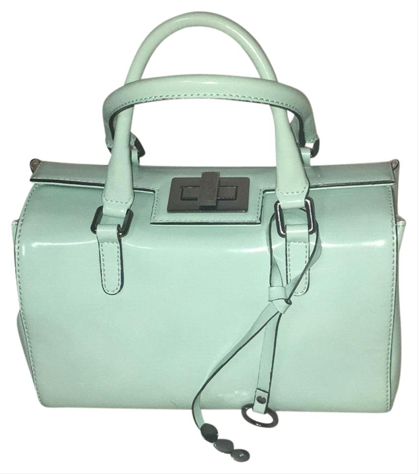 73c65bec8020 In Green Light Mint Itialin Leather Satchel - Tradesy