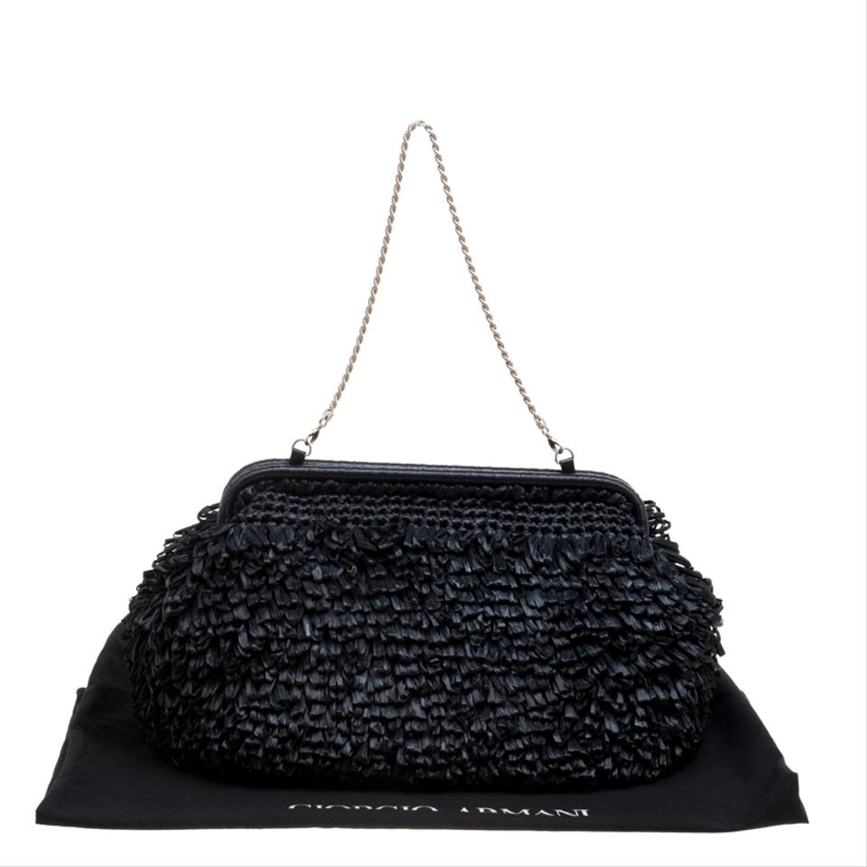 4c13ff027f Armani Black Clutch Bag