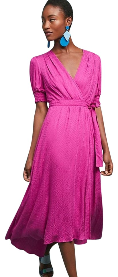 aaee34313d0 Anthropologie Pink Breanna Wrap By Maeve Mid-length Work Office ...