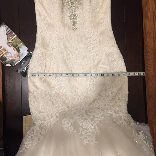 KittyChen Couture Light Gold and Ivory Beaded Lace Phaedra H1718 Sexy Wedding Dress Size 4 (S) Image 10