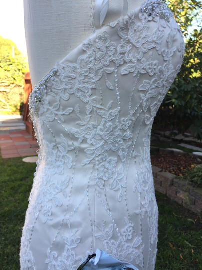 KittyChen Couture Light Gold and Ivory Beaded Lace Phaedra H1718 Sexy Wedding Dress Size 4 (S) Image 2