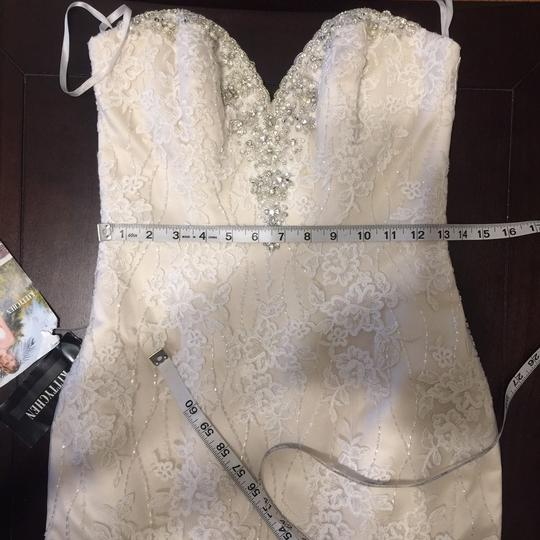 KittyChen Couture Light Gold and Ivory Beaded Lace Phaedra H1718 Sexy Wedding Dress Size 4 (S) Image 9