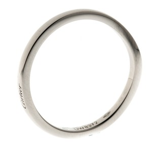 Cartier Ballerine Platinum Curved Band Size 58 Ring