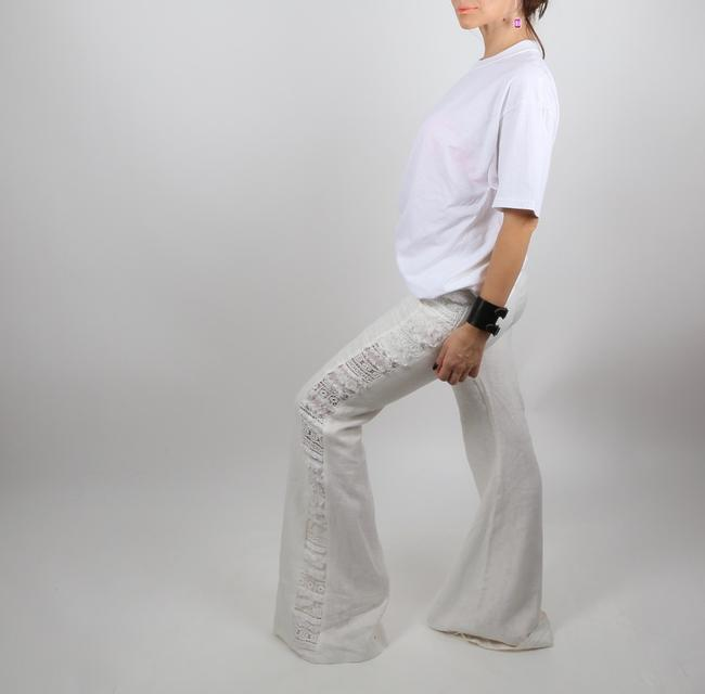 Alexis Casual Dressy Wide Leg Pants White Image 1