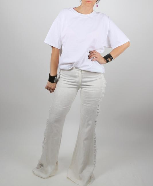 Alexis Casual Dressy Wide Leg Pants White Image 2