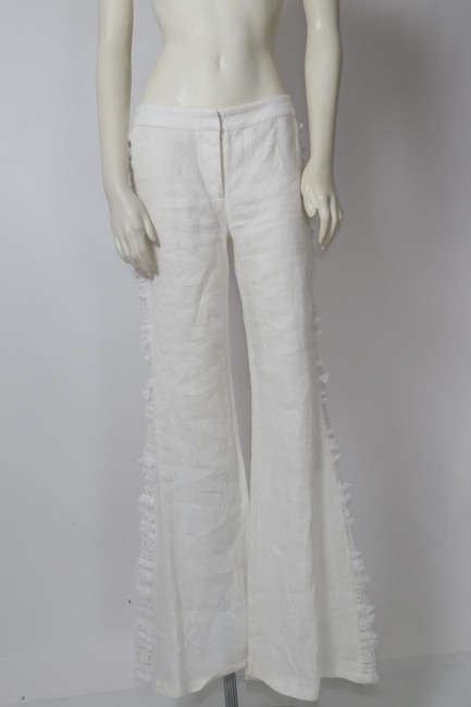 Alexis Casual Dressy Wide Leg Pants White Image 6