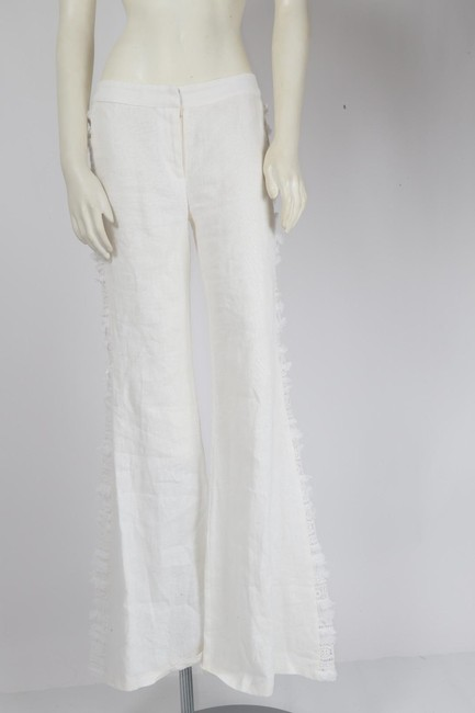Alexis Casual Dressy Wide Leg Pants White Image 7