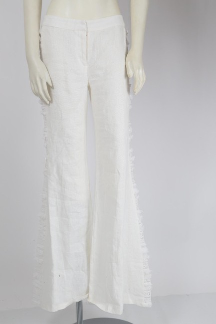 Alexis Casual Dressy Wide Leg Pants White Image 8