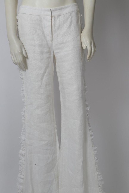 Alexis Casual Dressy Wide Leg Pants White Image 9