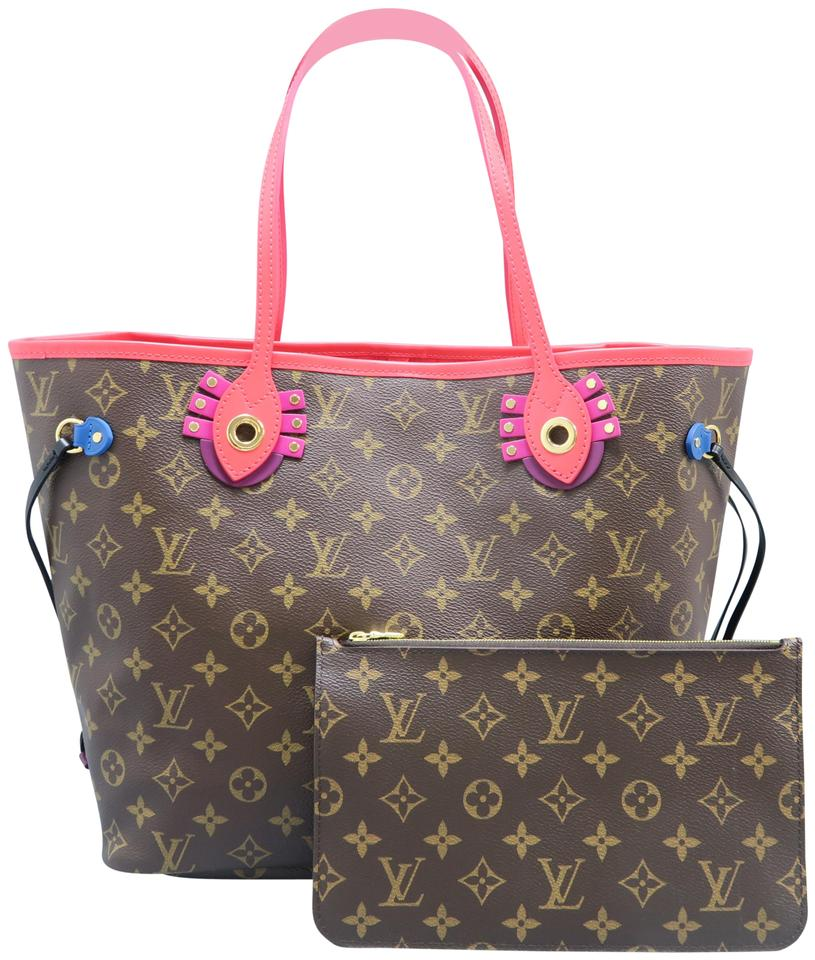 2ece45a8b896 Louis Vuitton Neverfull Mm 2015 Monogram Totem Brown Canvas Shoulder ...