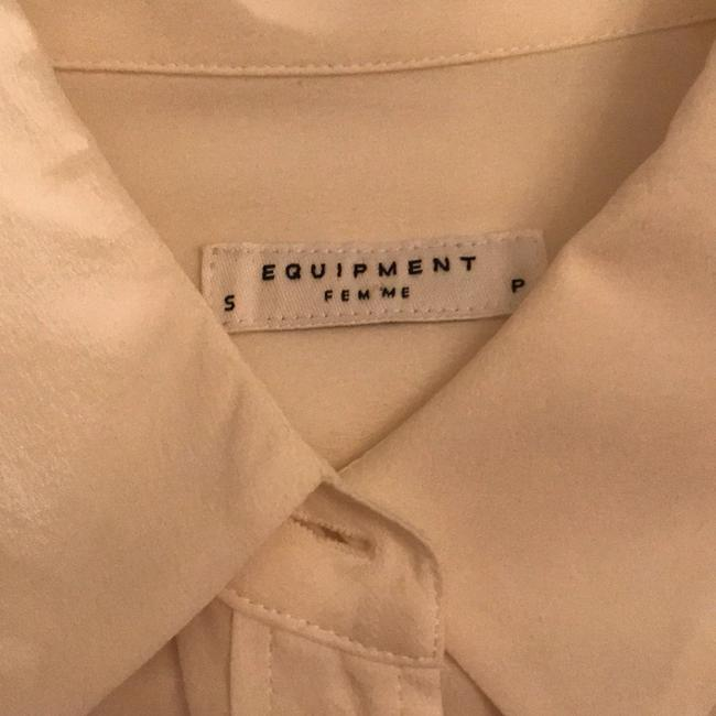 Equipment Button Down Shirt Blue and White Image 3