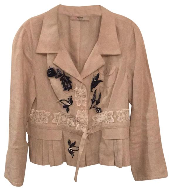 Preload https://img-static.tradesy.com/item/24587945/prada-cream-floral-beaded-embroidered-linen-cropped-blazer-size-8-m-0-1-650-650.jpg