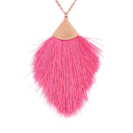 Riah Fashion Tassel Pendant Long Necklace Image 1