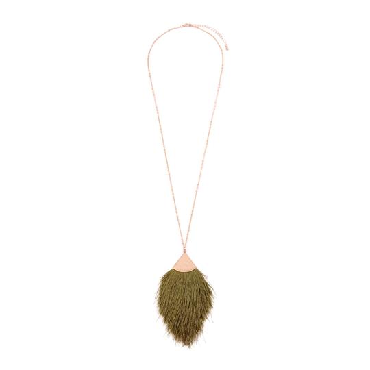 Preload https://img-static.tradesy.com/item/24587983/olive-tassel-pendant-long-necklace-0-0-540-540.jpg