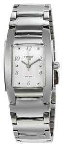 Tissot T-10 White Dial Polished Stainless Steel Ladies Watch
