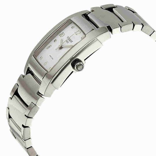 Tissot T-10 White Dial Polished Stainless Steel Ladies Watch Image 1