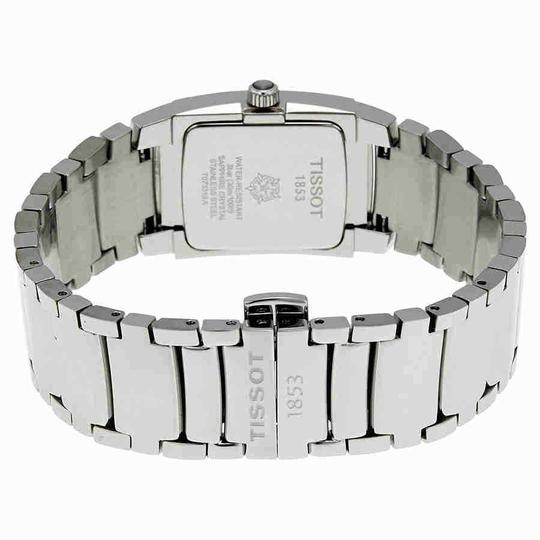 Tissot T-10 White Dial Polished Stainless Steel Ladies Watch Image 2