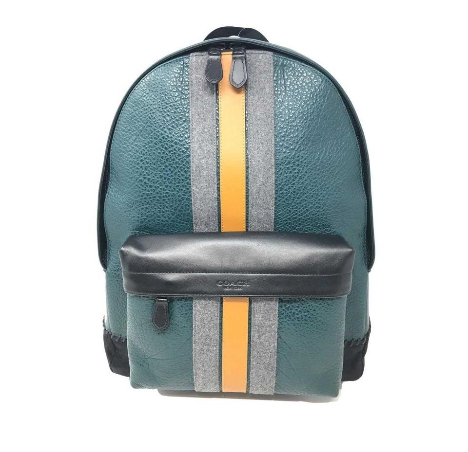 Coach Men s Charles Baseball Stitch Forest Green Multi Leather ... 7315441ae6ea5