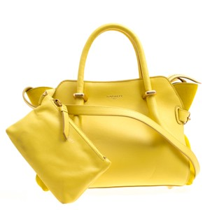7353db8219 Nina Ricci Suede Leather Tote in Yellow