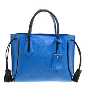 Longchamp Leather Nylon Tote in Blue