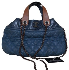 Chanel Leather In-the-mix Satchel in Blue