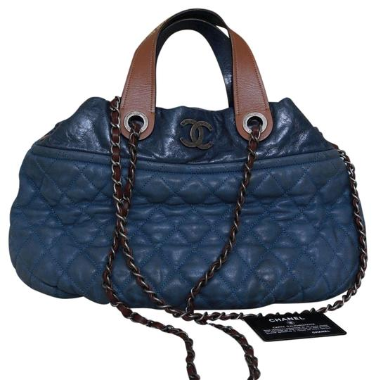 Preload https://img-static.tradesy.com/item/24588181/chanel-in-the-mix-shoulder-blue-leather-satchel-0-1-540-540.jpg
