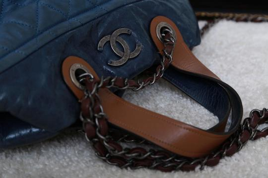 Chanel Leather In-the-mix Satchel in Blue Image 5