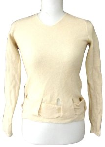 a407721769f06 Fendi Excellent Condition Merino Edgy Style Belt Bottom Long Sleeve V-neck  Sweater